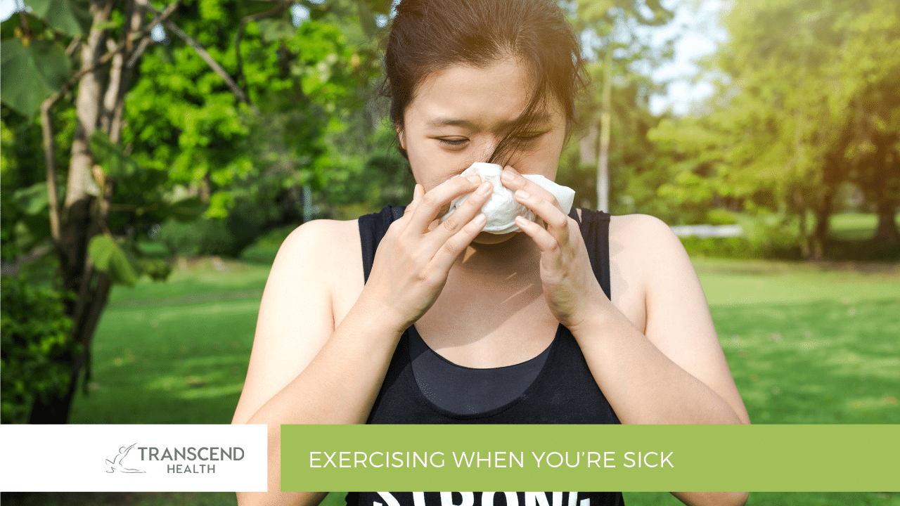 exercising when you're sick