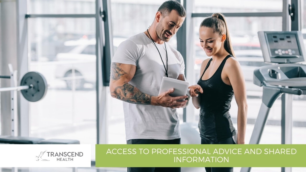 Access to professional advice and shared information