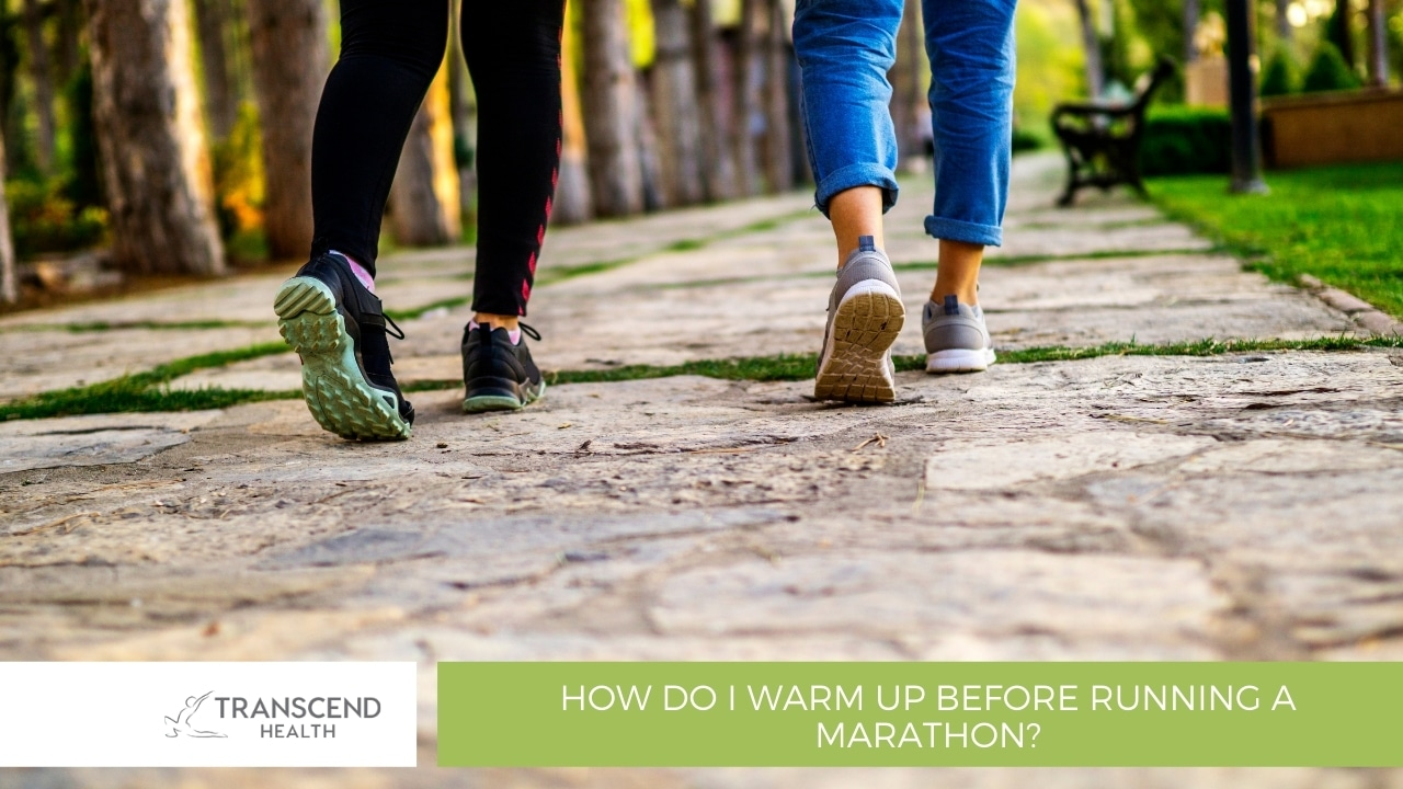 How do I warm up before running a marathon