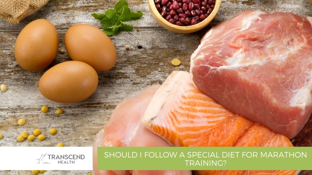 Should I follow a special diet for marathon training
