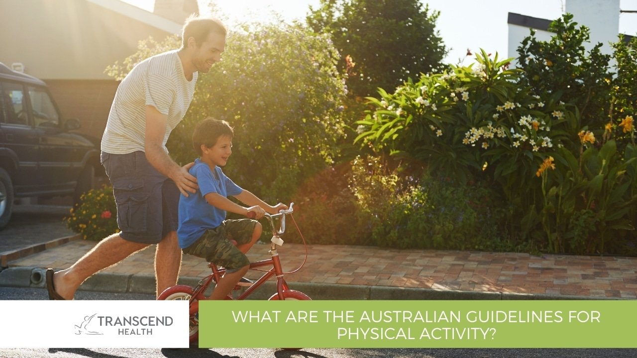 What are the Australian guidelines for physical activity