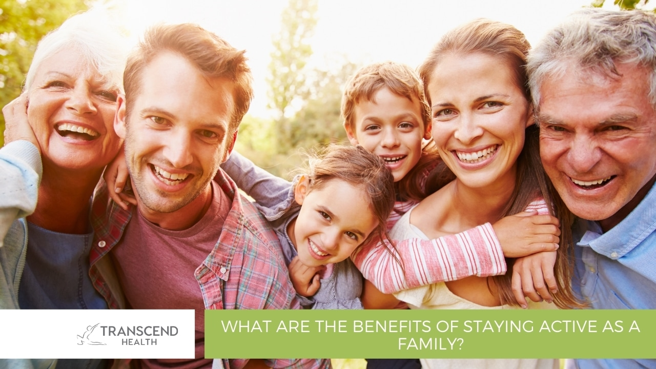 What are the benefits of staying active as a family